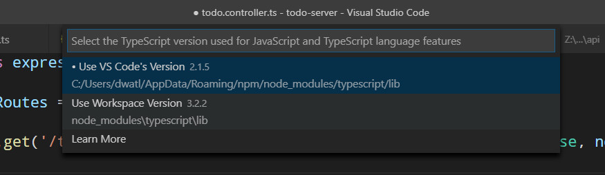 VSC Showing Incorrect TypeScript Location